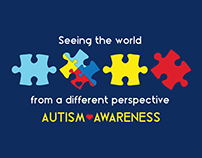 Autism Awareness Logo and Tshirt Design