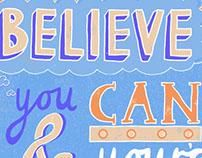 Theodore Roosevelt Typographic Quote