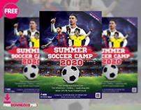 Summer Soccer Camp Flyer Free PSD