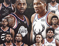 NBA All Star game graphics for Bleacher Report
