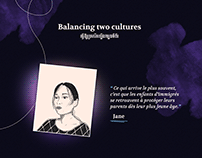 Balancing two cultures