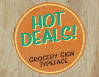 Hot Deals - a free grocery sign-inspired font