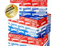 Orangina cardboard box