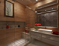 Bathroom Interior Design With Red Touch