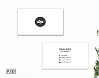 Free White Sober Business Card Template