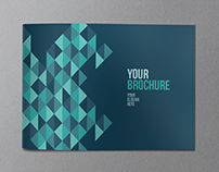 Colorful Triangle Pattern Brochure
