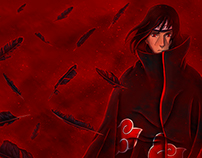 The Feathers Whisper Fire - Itachi Uchiha Illustration