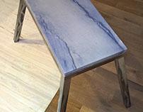 Tisch aus Azul Macaubas