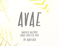 AVAE handcrafted font -Instant Download