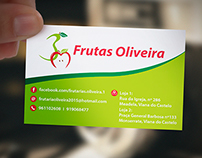 """Frutas Oliveira"" Business Card"
