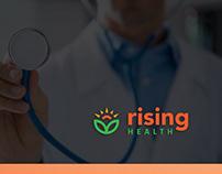 Rising health branding design