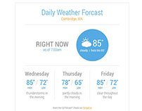 Daily Weather Email (2014)