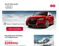 Audi Norwell Email Blast With Animated gif