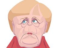 Angela Merkel and Theresa May x 2