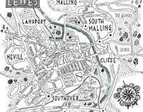 A Map of Lewes