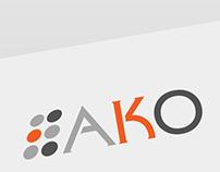 AKO branding and stationery