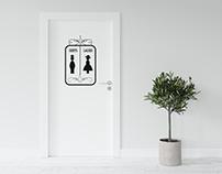 Free Door Mural Mockup