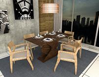 Dinner Table Base - Base de Mesa de Jantar