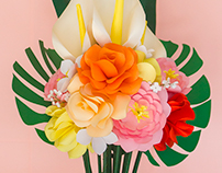 Paper Flowers Summer Bouquets