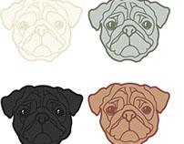 Pug Illustrations