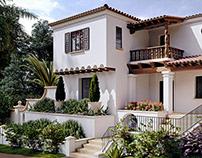 Mediterranean Villa 3d Renderings in Los Angeles