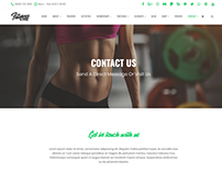 Contact Template - Fitness WordPress Theme