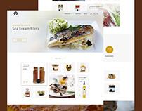 Free* Food Landing Page PSD