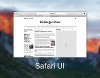 Mac Os Safari UI