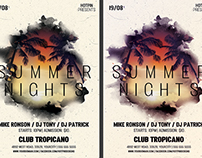 Summer Nights Party Flyer Template