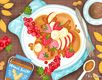 Food and Recipe illustrations 2018