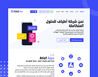 Atiaf Apps - Website Home page
