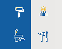 Icons and illustrations for GarantServis