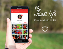 Free mobile UI kit Sweet life