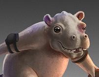 Roller Derby Hippo