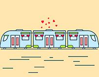 Train Illustration Design