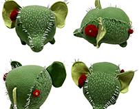 fluffies - stuffed sculpture creatures