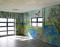 Illustrated Mural - EDF West Burton Visitor Centre