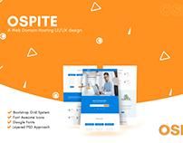 Ospite Web hosting UI/UX design