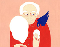 Mihai Sora portrait - magazine cover illustration
