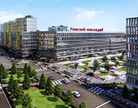Visualization of Rizhskiy station development concept
