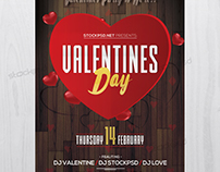 Valentine's Day Event - Free PSD Flyer Template