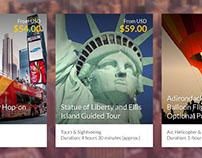 UI Card info - Tours & Activities
