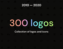 10 years — 300 logos and icons