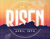 He is Risen Flyer Template