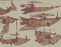 Concept Ship Sketches