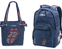 Rolling Stones tote bag, backpack and case