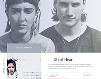 Concept for Artist Website (unfinished)