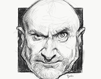 Phil Collins Caricature Sketch