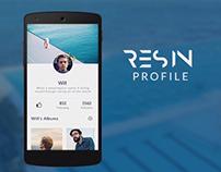 Resin profile UI