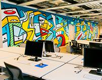 Facebook Poland Office Mural